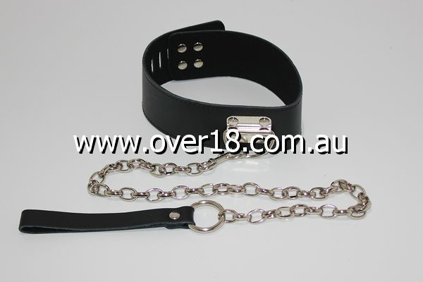 3dkink Slave Collar Wide Lockable with Lead and D-Ring