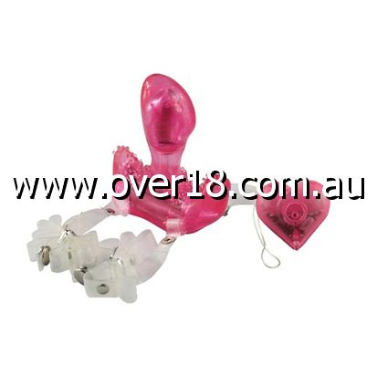 Aphrodisia Hearts  Flutter Vibrating Strap On