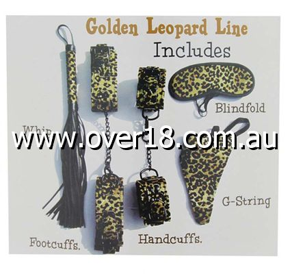 Aphrodisia Leopard Mistress Bondage Kit Golden
