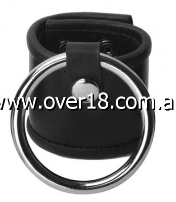 Aragorn Leather Ball Stretcher With Cock Ring