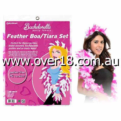 Bachelorette Party Favors Feather BoaTiara Set