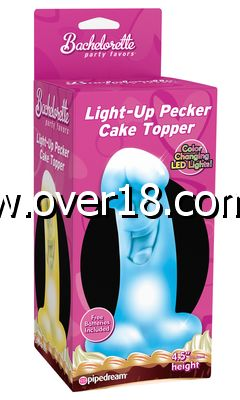 Bachelorette Party Favors Light Up Pecker Cake Topper