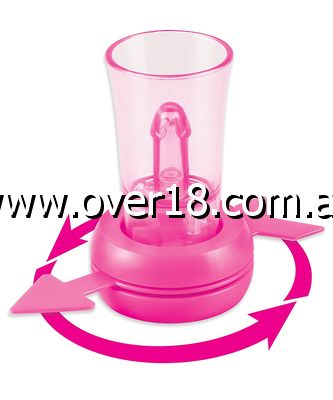 Bachelorette Party Favors Pecker Shotglass Spinner