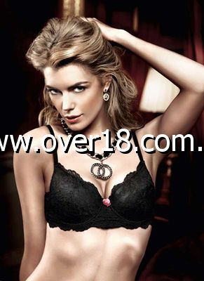 Baci Black Lace Padded Underwire Bra