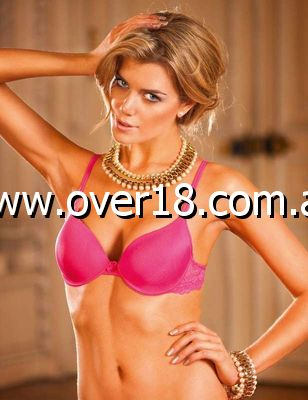 Baci Maximum Cleavage Bra Pink