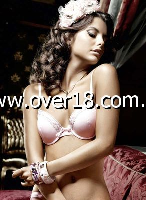 Baci Microfibre Lace Accented Bra Light Pink