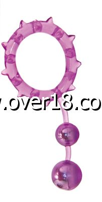 Aphrodisia Ball Banger Cock Ring with 2 Balls