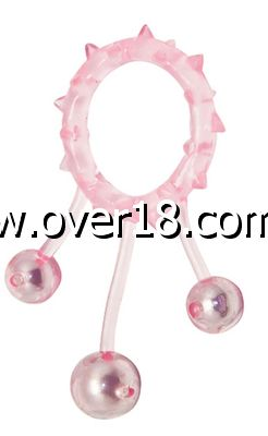Aphrodisia Ball Banger Cock Ring with 3 Stimulation Balls
