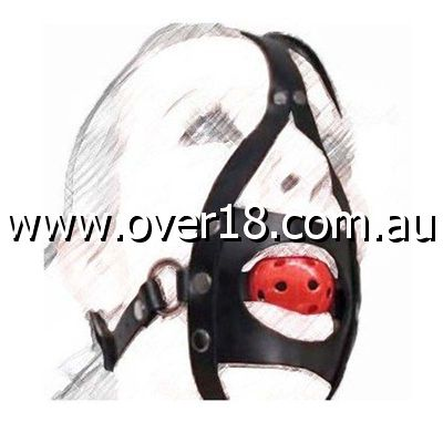 BDSM Full Head Harness With Gag Heavy