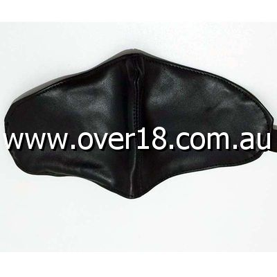 BDSM Sphere Wide Leather Blindfold