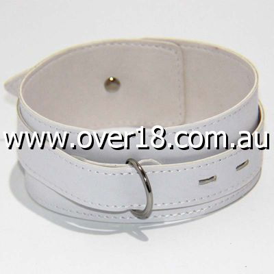BDStyle Collar Adjustable White Thick PVC
