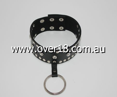Mistress Leather Collar Spiked and Studded
