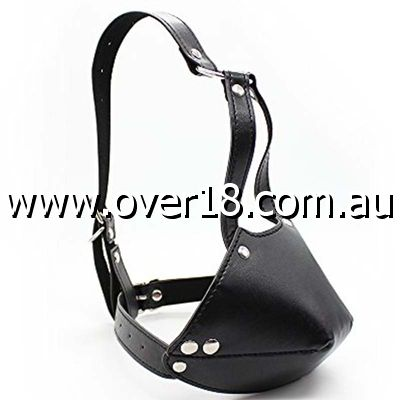 Thick Bondage Face Harness  Ball Gag