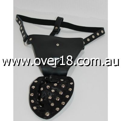 Bondage Laden Jock Strap Studded Leather