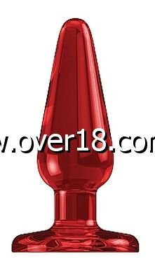Bottom Line Acrylic Butt Plug Model 1 Red