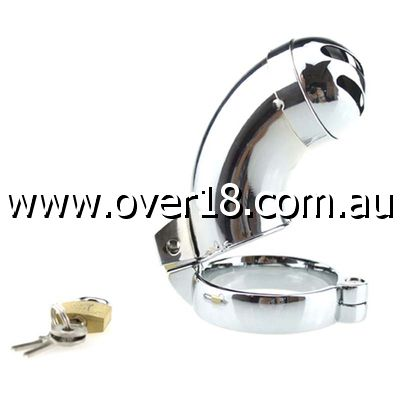 Brutus Male Steel Chastity With Sprinkler XXL