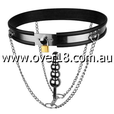 Chastity Belt  Bar With Plug