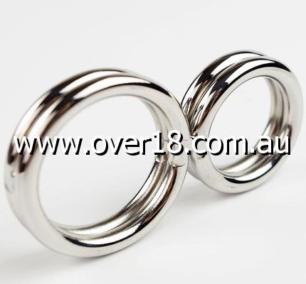 Cock Crimper Double Ring Male Chastity