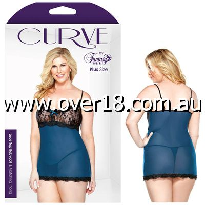 Curve Lace Top Babydoll  Thons