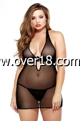 Curve Mesh Buckle Dress  G-String