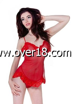 De Namour Red Babydoll  G-String