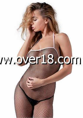De Namour Sexy Bodystocking With White Finishing