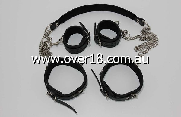 DirtyGirl Neck  Thigh Restraints with Chains