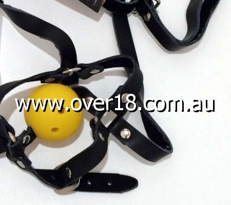 Dungeonnet Bondage Gag With Yellow Ball