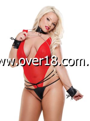 Fetish Fantasy Red Hot Teddy Set Queen