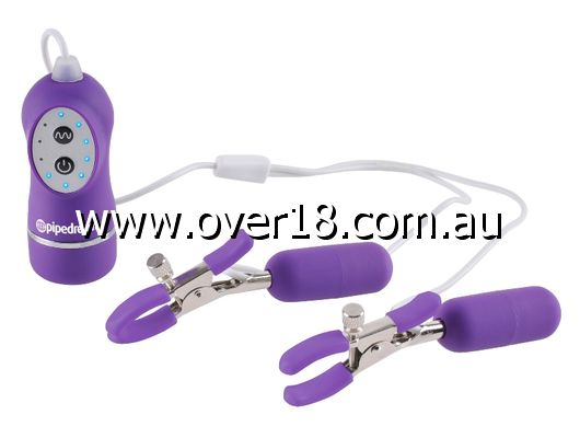Fetish Fantasy 10 Function Vibrating Nipple Clamps