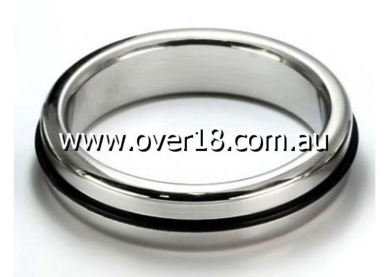 Burn the Rubber Steel Cock Ring 45MM