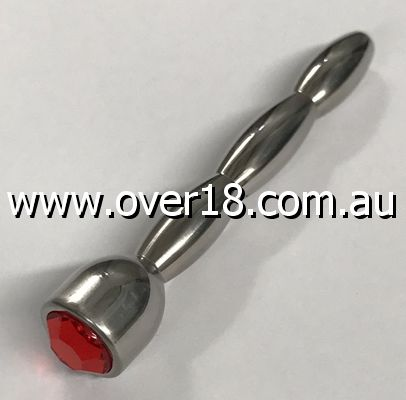 HC Nile Triple Ascending Jewelled Red Penis Plug