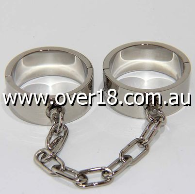 Heavy Duty Metal Ankle Cuffs with Chain