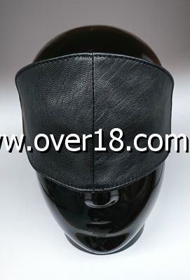 Hells Couture Sphere Wide Leather Blindfold