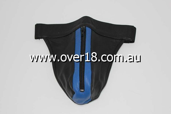 JAX Leather Jocks Black  Blue