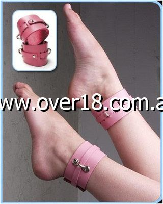 KinkLab Bound Leather Ankle Cuffs