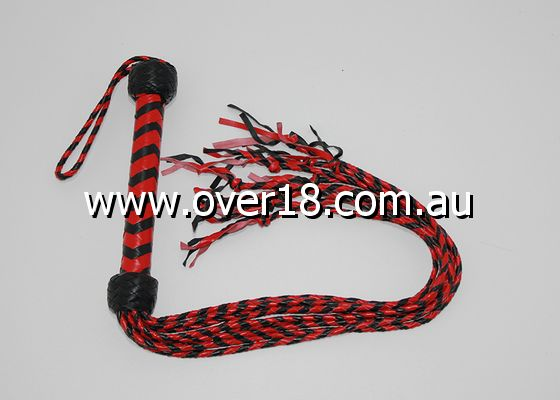 Kinky Leather Flogger With Nine Tails