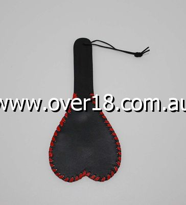 Kitties playpen Heart Shaped Leather Paddle 28cm