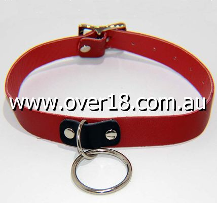 Kitty Red Collar with O Ring Heavy