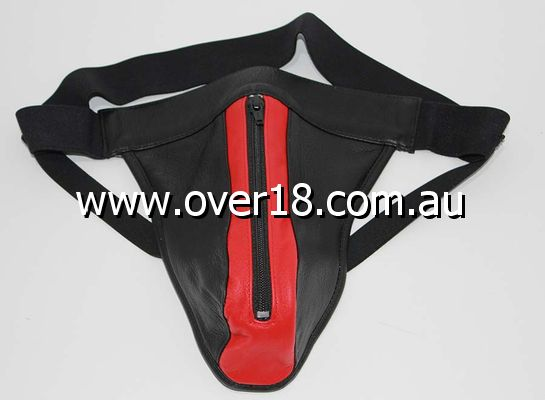 JAX Leather Jocks Black  Red