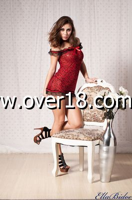 Leopard Babydoll Red