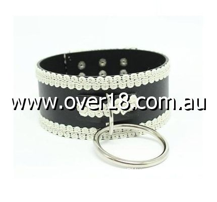 Lustful Studded and Laced Collar Heavy