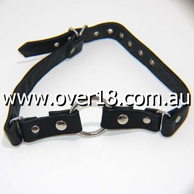 Leather Gag With Removable Metal O Ring