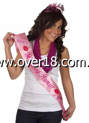 Pink Maid of Honor Sash