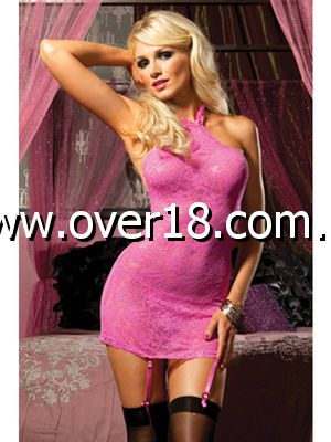 Pink Martini Lace Front Chemise