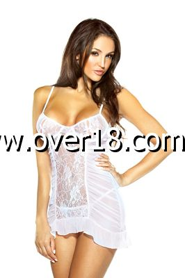 Pure Underwire Chemise  Matching Thong