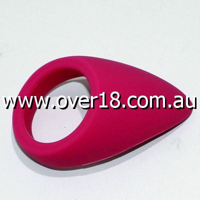 Purple Silicone Tear Drop Cock Ring