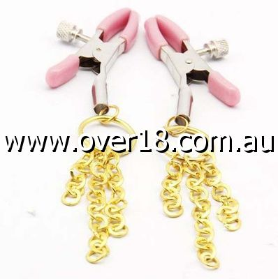 Roomfun Golden Chains Nipple Clamps