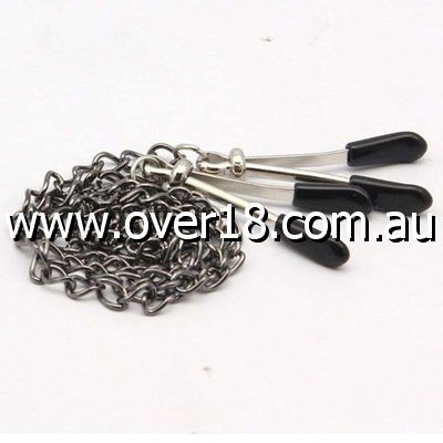 Grey Chain Link Adjustable Nipple Clamps