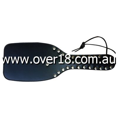 Fetlife Wide Ping-Pong Studded Leather Paddle